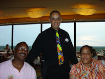 Jeff and Dianne with Abdou (standing center)
