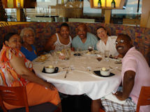 The Family at the California Grill (Dianne, Mom, Renae, Me-Julius, Cindy and Jeff