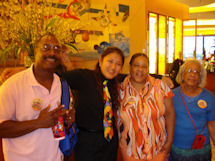 Larana (2nd from left) with Jeff, Dianne and Mom